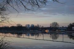 Πλημμυρισμένο Racecourse Pitchcroft Στοκ Εικόνες