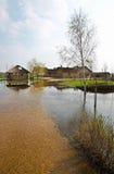 Πλημμύρα άνοιξη, Λευκορωσία Στοκ Φωτογραφία