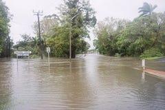 Πλημμύρα μετά από τον κυκλώνα Debbie Στοκ Εικόνες
