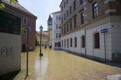 Πλημμύρα σε Meyssen Στοκ εικόνα με δικαίωμα ελεύθερης χρήσης