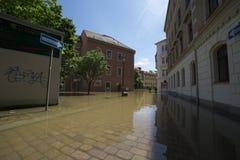 Πλημμύρα σε Meyssen Στοκ φωτογραφίες με δικαίωμα ελεύθερης χρήσης