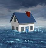 Πλημμύρα σπιτιών Στοκ εικόνες με δικαίωμα ελεύθερης χρήσης