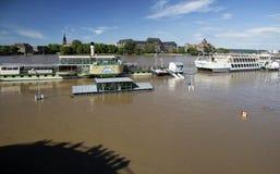 Πλημμύρα στη Δρέσδη Στοκ φωτογραφία με δικαίωμα ελεύθερης χρήσης