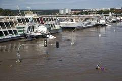 Πλημμύρα στη Δρέσδη Στοκ εικόνες με δικαίωμα ελεύθερης χρήσης
