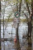 Πλημμύρα στη δύση Laval, Κεμπέκ Στοκ Φωτογραφίες