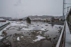 Πλημμύρα στον ποταμό Στοκ εικόνα με δικαίωμα ελεύθερης χρήσης
