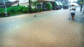 Πλημμύρα στο δρόμο Στοκ εικόνα με δικαίωμα ελεύθερης χρήσης