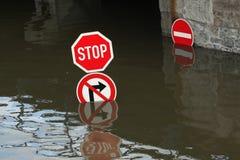 Πλημμύρες στο NAD Labem, Δημοκρατία της Τσεχίας Usti Στοκ εικόνα με δικαίωμα ελεύθερης χρήσης