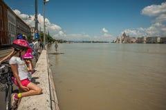 Πλημμύρες της Βουδαπέστης Στοκ Εικόνα