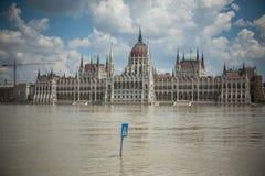 Πλημμύρες της Βουδαπέστης Στοκ εικόνα με δικαίωμα ελεύθερης χρήσης