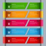 Πληροφορίες γραφικές με τα χρωματισμένα λωρίδες σχεδίου στο ρόλο απεικόνιση αποθεμάτων