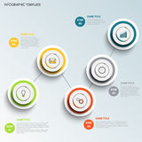 Πληροφορίες γραφικές με το στρογγυλό χρωματισμένο πρότυπο σημείων σχεδίου διανυσματική απεικόνιση