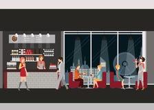 Πληροφορίες γραφικές της καφετερίας απεικόνιση αποθεμάτων