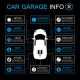 Πληροφορίες μερών αυτοκινήτων διανυσματική απεικόνιση