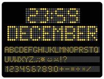 Πληροφορίες που οδηγούνται timeboard Ψηφία και επιστολές καθορισμένα απεικόνιση αποθεμάτων