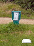 Πληροφορίες τρυπών γραμμάτων Τ γκολφ Στοκ φωτογραφία με δικαίωμα ελεύθερης χρήσης