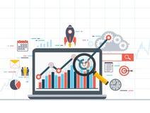 Πληροφορίες analytics Ιστού και στατιστική ανάπτυξης διανυσματική απεικόνιση