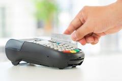 Πληρωμή με πιστωτική κάρτα, που ψωνίζει on-line Στοκ Φωτογραφίες