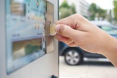 πληρωμή στάθμευσης στοκ φωτογραφίες
