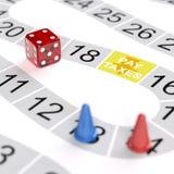Πληρωμή της έννοιας φορολογικών παιχνιδιών Στοκ φωτογραφίες με δικαίωμα ελεύθερης χρήσης