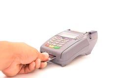 Πληρωμή της πιστωτικής κάρτας Στοκ εικόνες με δικαίωμα ελεύθερης χρήσης