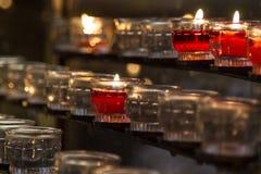 Πληρωτές Candels στην εκκλησία Στοκ Εικόνα