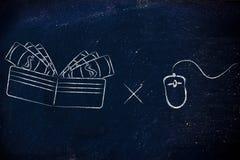 Πληρώστε ανά κρότο: αποδοχές και δημοτικότητα στον Ιστό Στοκ φωτογραφία με δικαίωμα ελεύθερης χρήσης