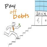 Πληρώστε μακριά τα χρέη ελεύθερη απεικόνιση δικαιώματος
