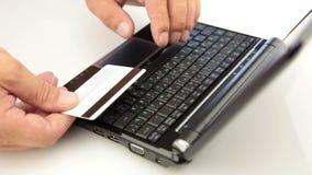 Πληρώστε on-line απόθεμα βίντεο