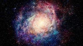 Πλησιάζοντας καταπληκτικός πολύχρωμος γαλαξίας απεικόνιση αποθεμάτων