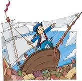 Πλοηγήστε σε ένα σύνολο θάλασσας των βιβλίων Στοκ Εικόνες