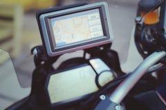 Πλοηγός ΠΣΤ ταξιδιού μοτοσικλετών Στοκ φωτογραφία με δικαίωμα ελεύθερης χρήσης