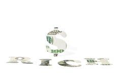 Πλούσιοι σημαδιών στο λευκό Στοκ φωτογραφία με δικαίωμα ελεύθερης χρήσης