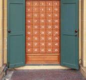 Π Ο Υπηρεσία κιβωτίων στο ταχυδρομείο Στοκ Φωτογραφία
