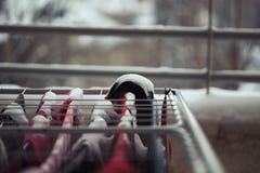 Πλυντήριο που καλύπτεται στο χιόνι Στοκ εικόνα με δικαίωμα ελεύθερης χρήσης
