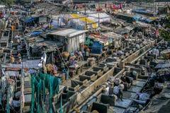 Πλυντήριο σε Mumbai, Ινδία Στοκ Εικόνα