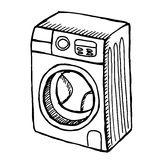 Πλυντήριο στο άσπρο υπόβαθρο Στοκ Φωτογραφίες
