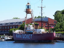 Πλωτός φάρος Nantucket ΙΙ WLV 613, μΑ Στοκ εικόνα με δικαίωμα ελεύθερης χρήσης