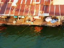 Πλωτό σπίτι στην επαρχία, Ταϊλάνδη Στοκ Φωτογραφίες