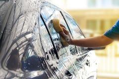 Πλύντε το αυτοκίνητο Στοκ Εικόνες