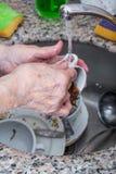Πλύση πιάτων Στοκ Εικόνες