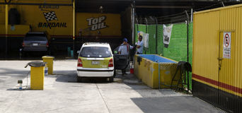 Πλύσιμο αυτοκινήτων στο Μεξικό Στοκ Φωτογραφία