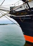 Πλώρη ενός ψηλού πλέοντας σκάφους ιστών στον κόλπο του Σαν Ντιέγκο Στοκ Φωτογραφίες