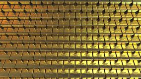 ράβδοι χρυσές Ρεαλιστική τρισδιάστατη απόδοση Στοκ φωτογραφίες με δικαίωμα ελεύθερης χρήσης