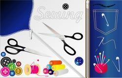 ράβοντας εργαλεία Στοκ Εικόνες