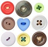 Ράβοντας κουμπιά Στοκ φωτογραφία με δικαίωμα ελεύθερης χρήσης