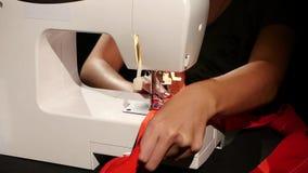 Ράβοντας μηχανή κίνηση αργή απόθεμα βίντεο