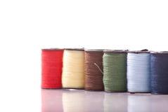ράβοντας νήμα στροφίων Στοκ Φωτογραφίες