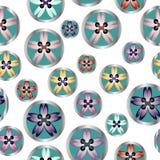 Ράβοντας το floral άνευ ραφής σχέδιο κουμπιών για το ράψιμο της επιχείρησης Στοκ φωτογραφία με δικαίωμα ελεύθερης χρήσης