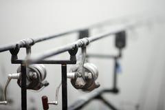 Ράβδοι αλιείας κυπρίνων Στοκ Φωτογραφίες